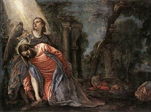 Paolo Veronese - Christ in the Garden Supported by an Angel