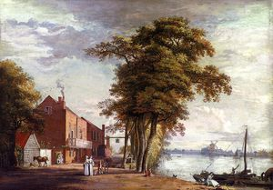 Paul Sandby - Sanby paul the spread eagle tavern millbank