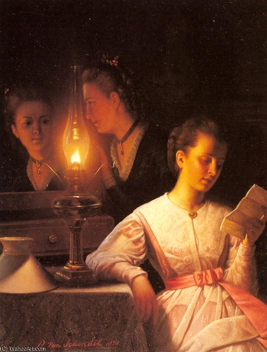 Order Paintings Reproductions | The letter by Petrus Van Schendel (1806-1870, Netherlands) | WahooArt.com