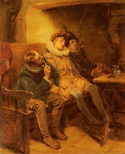 Order Museum Quality Reproductions : His first smoke by Ralph Hedley (1848-1913, United Kingdom) | WahooArt.com