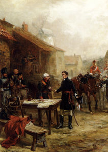Robert Alexander Hillingford - Wellington and blucher meeting before the battle of waterloo