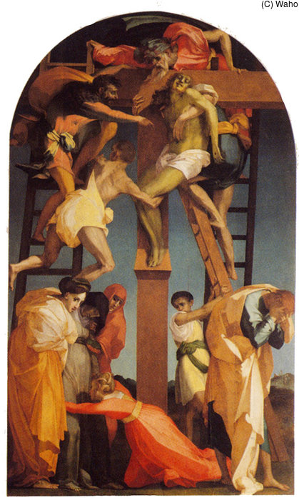 Deposition by Rosso Fiorentino (1495-1540, Italy) | Museum Art Reproductions Rosso Fiorentino | WahooArt.com