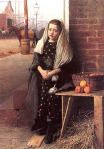 Seymour Joseph Guy - The little orange girl