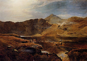 Sidney Richard Percy - Williams cattle and sheep in a scottish highland landscape