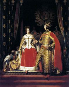 Edwin Henry Landseer - henry queen victoria and prince albert at the bal costume of may