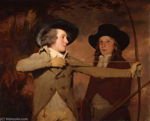 the archers by Henry Raeburn Dobson | Art Reproductions Henry Raeburn Dobson | WahooArt.com