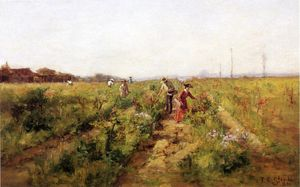 Theodore Clement Steele - In the Berry Field )