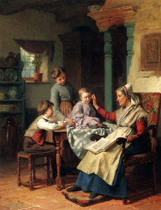 Theodore Gerard - Trying on grandmothers spectacles