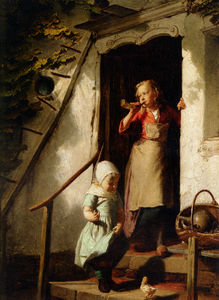 Theodore Gerard - Feeding the Chicks