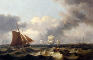 Thomas Luny - Shipping off the coast