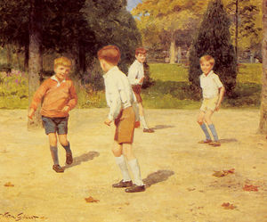 Victor Gabriel Gilbert - Boys playing
