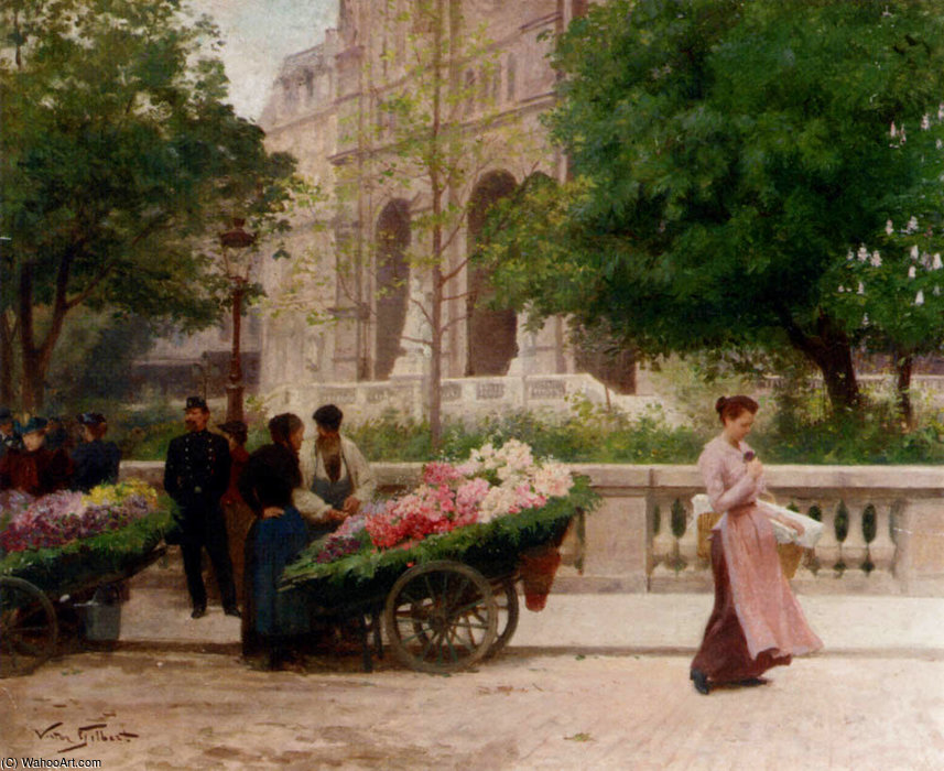 La place de la trinite by Victor Gabriel Gilbert (1847-1933, France)