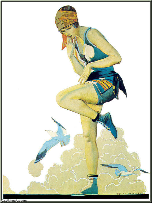 Untitled (808) by Coles Phillips (1880-1927, United States) | Painting Copy | WahooArt.com