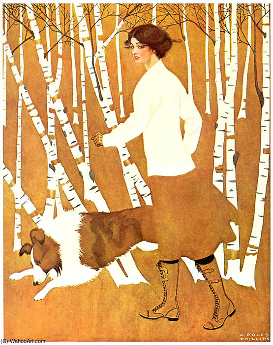 Untitled (647) by Coles Phillips (1880-1927, United States) | Painting Copy | WahooArt.com