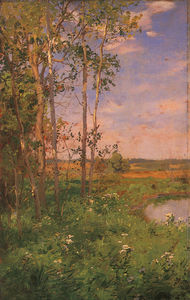 Walter Launt Palmer - At the Edge of the Pond
