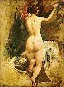 William Etty - Nude Woman from Behind