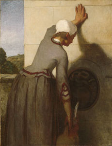 William Morris Hunt - Girl AT The Fountain