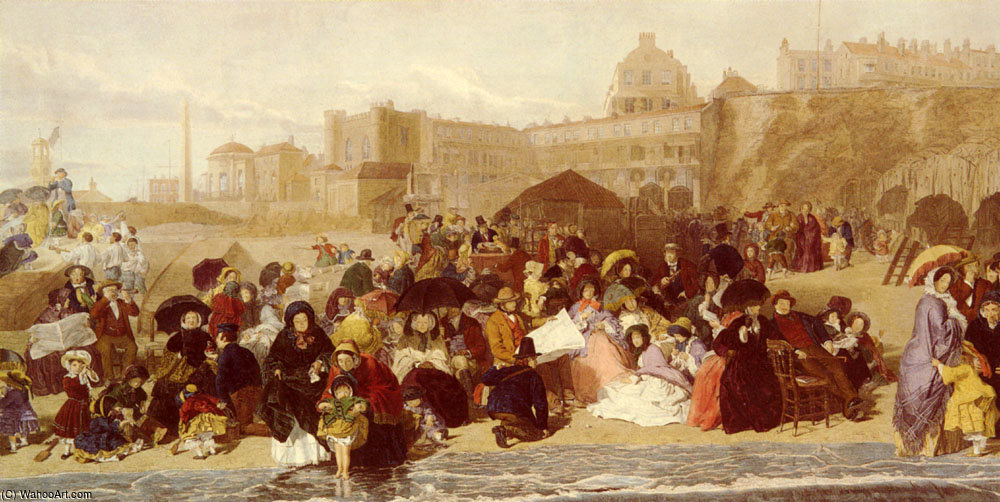 Life at the seaside ramsgate sands by William Powell Frith (1819-1909, United Kingdom)