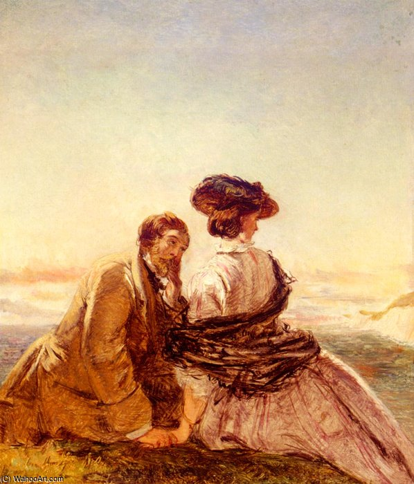 Order Famous Paintings Reproductions : The lovers by William Powell Frith (1819-1909, United Kingdom) | WahooArt.com