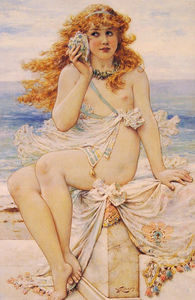 William Stephen Coleman - Nymph with Conch Shell
