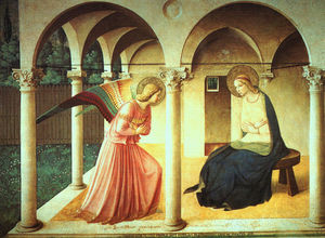 Fra Angelico - The Annunciation, late fresco, Museo di