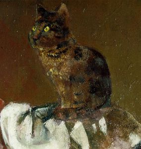 Balthus (Balthasar Klossowski) - Cat with mirror III Detalj 1Thomas Ammann Fi