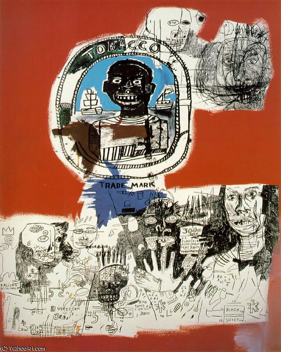 Logo, private, 1984 by Jean Michel Basquiat (1960-1988, United States) |  | WahooArt.com