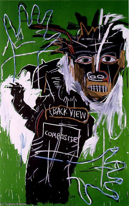 Self-Portrait as a Heel, Part Two, 1982 by Jean Michel Basquiat (1960-1988, United States) |  | WahooArt.com