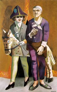 Max Beckmann - Carnival - The artist and his wife, Kunstm