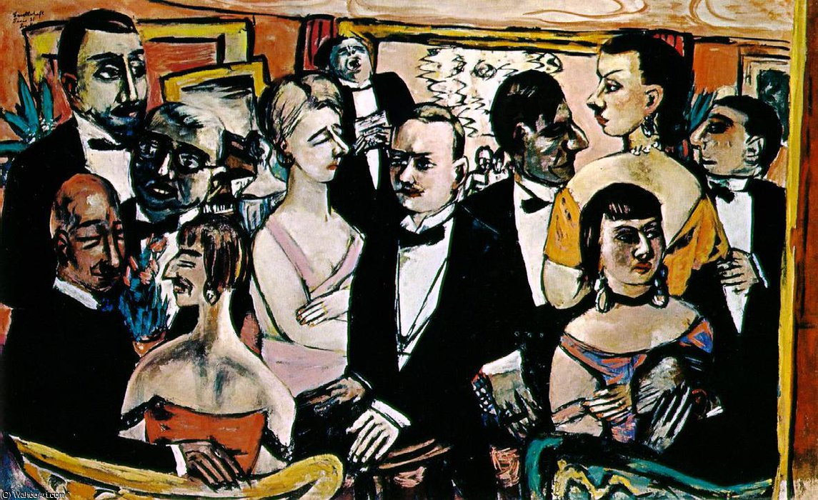 Party in Paris, reworked The Solomon, 1947 by Max Beckmann (1884-1950, Germany) | Painting Copy | WahooArt.com