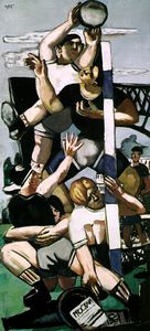Max Beckmann - Rugby players, Wilhelm-Lehmbruck-Museum,