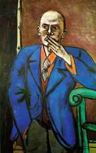 Max Beckmann - Self-Portrait in Blue Jacket, St. Louis A