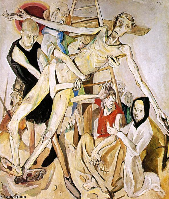 The Descent from the Cross, Moma NY, 1917 by Max Beckmann (1884-1950, Germany)