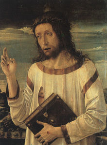 Giovanni Bellini - christ's blessing, louvre