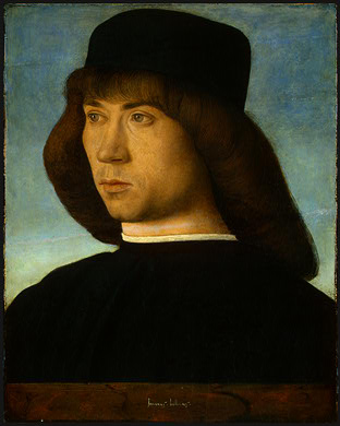 portrait of a young man ngw by Giovanni Bellini (1433-1516, Italy) | Art Reproductions Giovanni Bellini | WahooArt.com