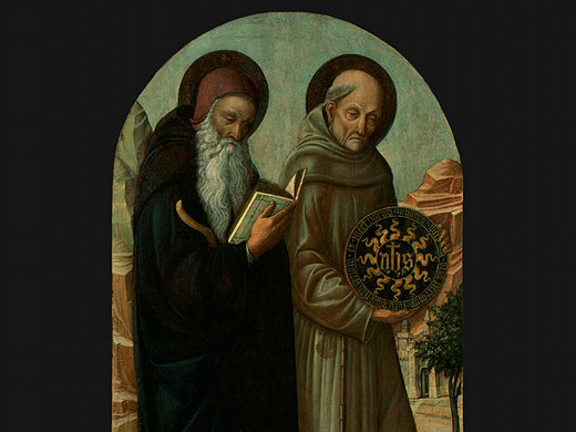saint anthony abbot and saint bernardino of sie(1 by Jacopo Bellini (1396-1470, Italy) | Oil Painting | WahooArt.com