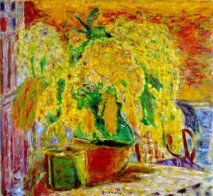 Pierre Bonnard - Bouquet de mimosas (Bunch of Mimosa), ca - (62x68)