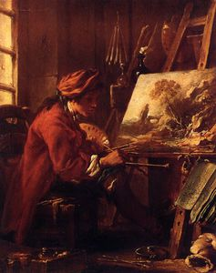 François Boucher - The Painter in His Studio