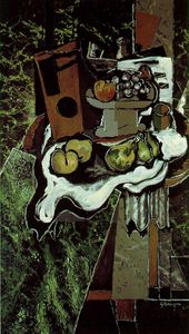 Georges Braque - Fruit on a Tablecloth with a Fruitdish, Paris P