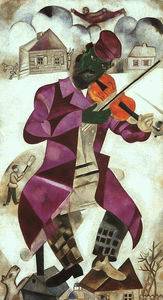 Marc Chagall - Green Violinist, oil on canvas, The Solomon