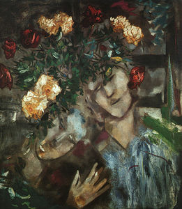 Marc Chagall - Lovers with Flowers, oil on canvas, The Israel