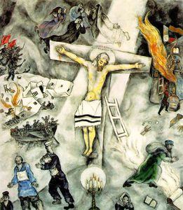 """""""The Crucifixion"""" by Stanley Spencer (1891-1959, United ... Marc Chagall White Crucifixion"""
