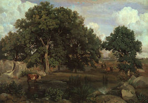Jean Baptiste Camille Corot - Forest of Fontainebleau, oil on canvas, Museum o