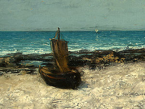 Gustave Courbet - Boats on a Beach, Etretat, after Detalj 3, NG