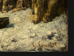 Gustave Courbet - Boats on a Beach, Etretat, after Detalj 4, NG