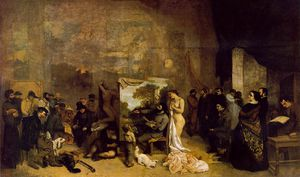 Gustave Courbet - The painter-s studio_ a real allegory 361x598 m