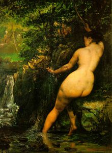 Gustave Courbet - The source, Musee d-Orsay, Paris