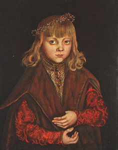 Lucas Cranach The Elder - A Prince of Saxony, wood, National Galler