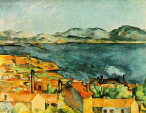 Order Art Reproduction : The bay from l`estaque, 1886 by Paul Cezanne (1839-1906, France) | WahooArt.com