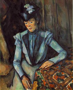 Paul Cezanne - Woman seated in blue,c.1900, state hermitage museum,